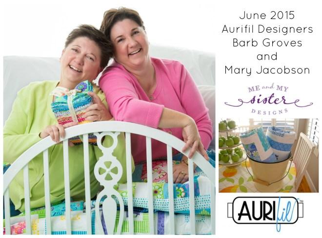 Aurifil 2015 June designers logo