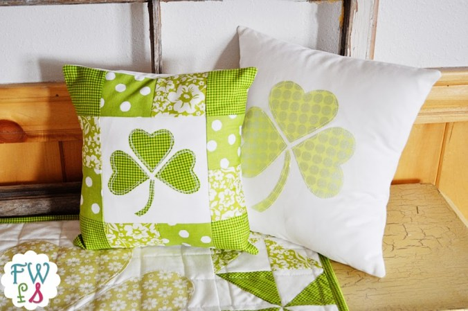 LuckyShamrockPillow
