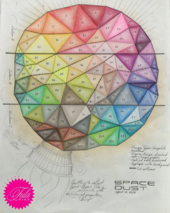 Original sketch for Space Dust in 2012