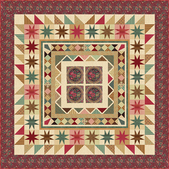 The reproduction Medallion Quilt -- for Preservation, Collection for a Cause
