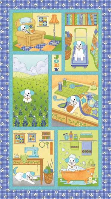 Joey the Shop Dog Quilt