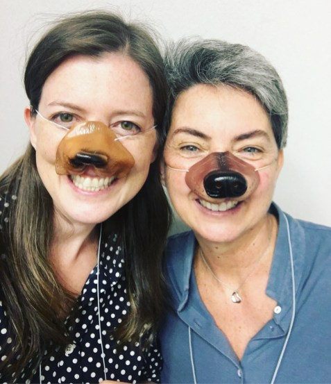 Erin & Elena get silly pre-Schoolhouse with some super cute dog noses
