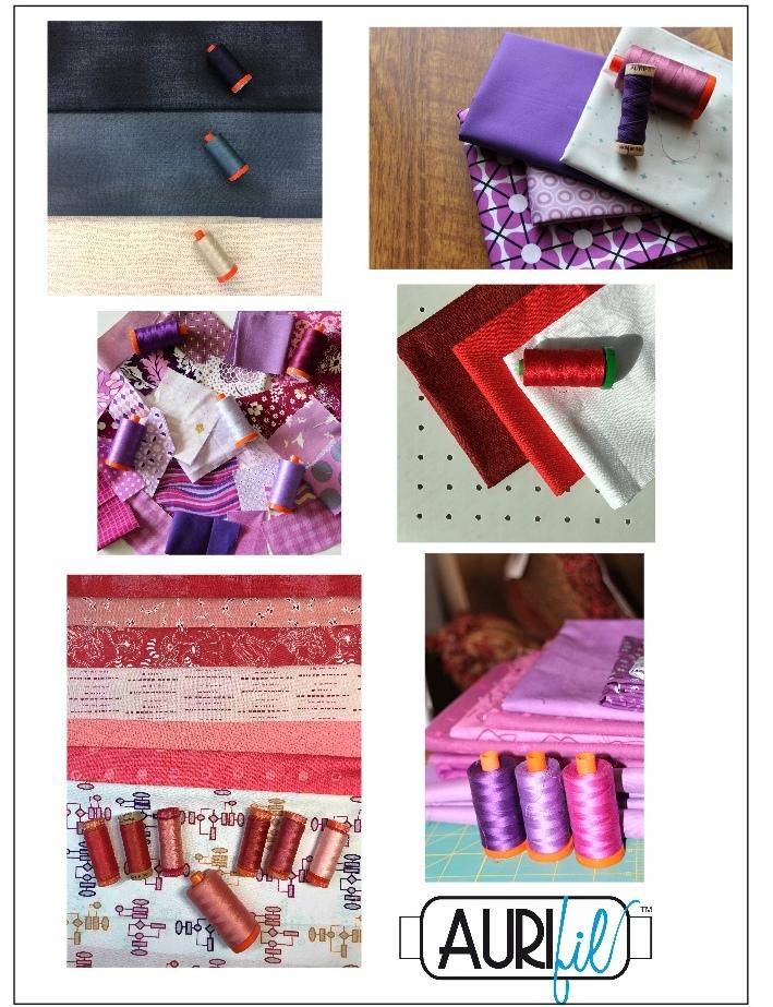 Aurifil 2017 Designers of the month fabrics june.JPG
