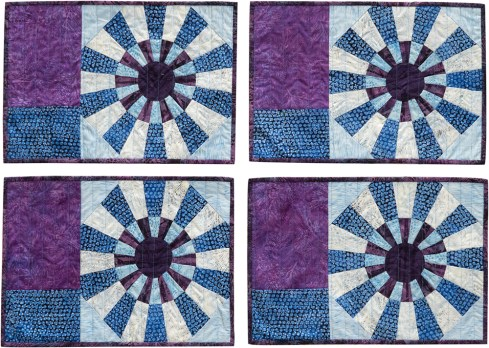 Snowflakes Placemats by Jackie Kunkel, Canton Village Quilt Works