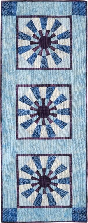 Snowflakes Runner by Jackie Kunkel, Canton Village Quilt Works