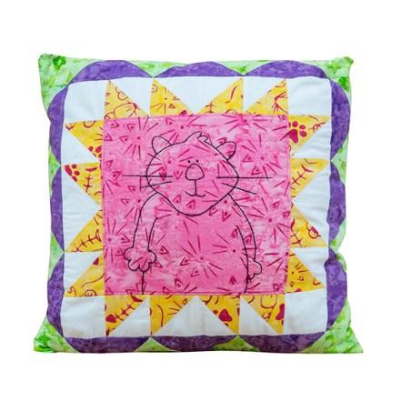 Cat's Meow Pillow by Cranberry Pie Designs
