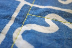 Back of Akoya, a quilt by Patricia Belyea, stitched by Victoria Stone with Aurifil 12wt thread on a Sashiko 2 machine