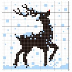 July 8 - Snowy Reindeer