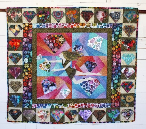 2018 Best Use of Aurifil, 1st Place: Cherri Kincaid - Lucy in the Sky with 30 Years of Diamonds