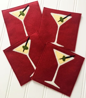 Olive You Coasters by Tamarinis