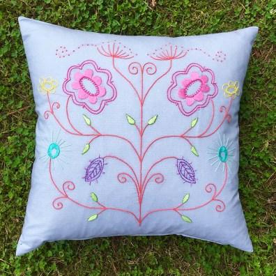 Scandi Stitch Cushion by Jo Avery