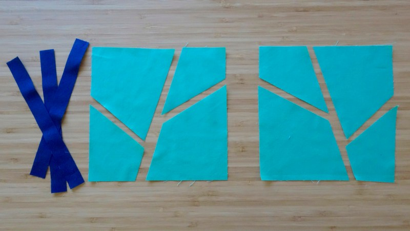 Making a Leaf Block for Purity, a baby quilt by Patricia Belyea