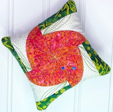 Kismet Pincushion w leaves