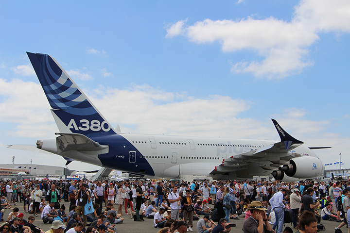 19 - A380 Avion en démonstration - Salon du Bourget 2017 - Au'riginalité