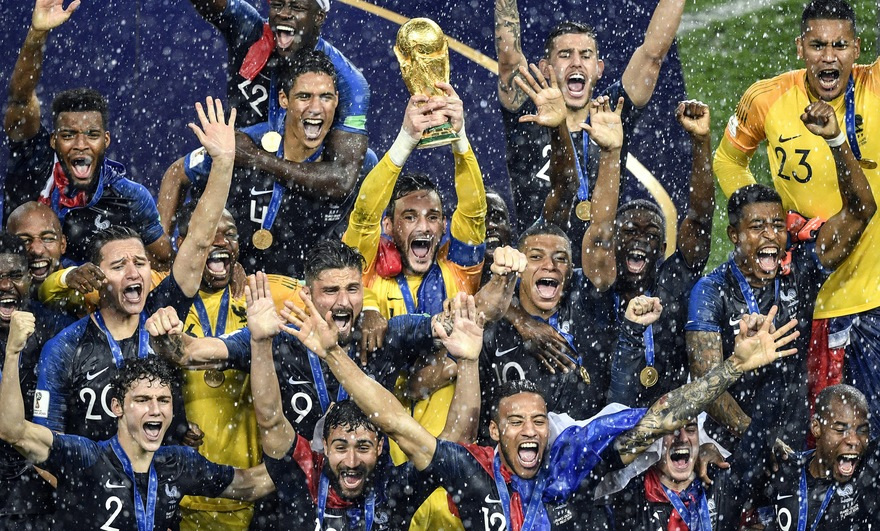France Football coupe du monde - champions du monde - Au'riginalité