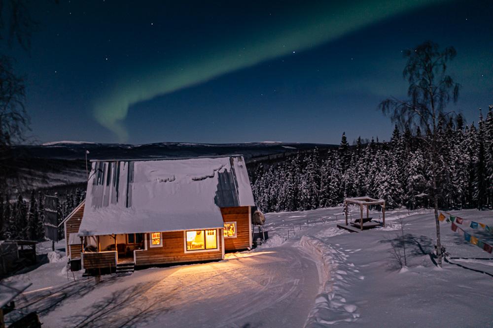 house cabin aurora drone aerial