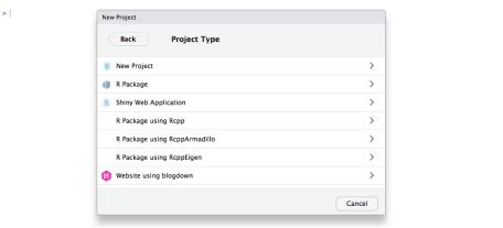 Selecting Hugo Blogdown format