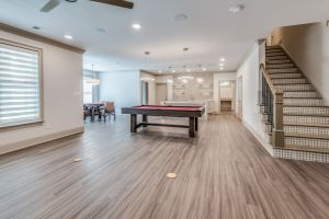 basement flooring finishing results