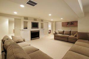 modern basement finish luxury home finish specialists
