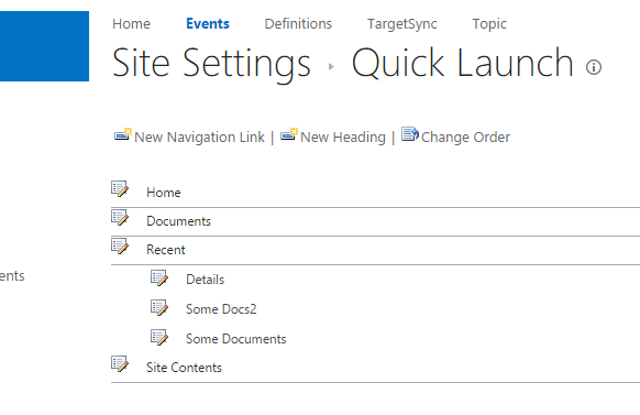 SharePoint-Quick-launch-settings
