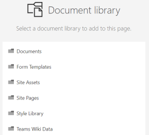Document Library Web Part