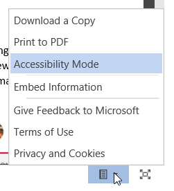 Document user options