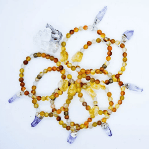 Vera Cruz Charm & Citrine High Vibrational Bracelet