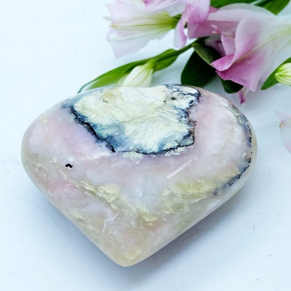 Stunning Large Andean Rose Opal Heart, Love, Peace & Hope