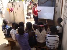 Teaching, Ghana, Aurora Kastanias