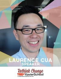 Laurence Cua is a Xavier School alumnus who graduated as a part of Batch 1997. He is currently the country manager of Uber in the Philippines. He graduated from Ateneo de Manila with a Management Engineering degree, and Kellogg School of Management with an MBA degree. Laurence has an interest in technology and enjoys doing 3D printing in his spare time. He believes that Uber will allow transportation in the Philippines to be safer and more convenient. (Text from TEDxXavierSchool page)