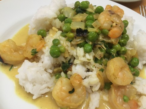 Easy Yellow Shrimp Curry