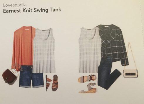 Loveappella Earnest Knot Swing Tank suggestions