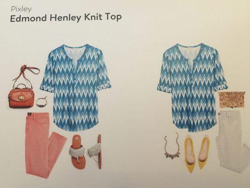 Pixley Edmond Henley Knit Top