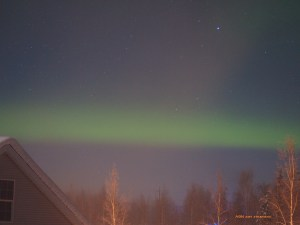 aurora band with haze