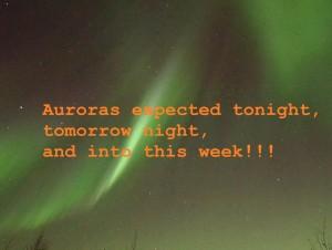 auroras expected