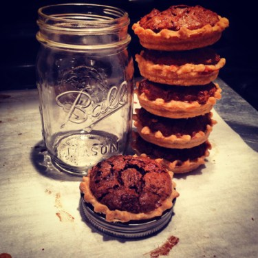 mason jar pecan pies