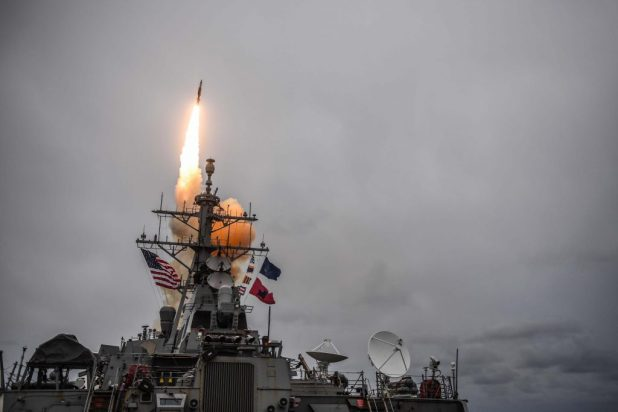 ATLANTIC OCEAN (Oct. 15, 2017) The Arleigh Burke-class guided-missile destroyer USS Donald Cook (DDG 75) fires a standard missile 3 during exercise Formidable Shield 2017. Formidable Shield is a U.S. 6th Fleet led, Naval Striking and Support Forces NATO-conducted exercise which will improve allied interoperability in a live-fire integrated air and missile defense environment, using NATO command and control reporting structures. (U.S. Navy photo by Mass Communication Specialist 1st Class Theron J. Godbold/Released)