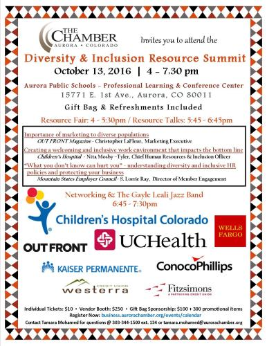Diversity & Inclusion Resource Summitt – Aurora Colorado
