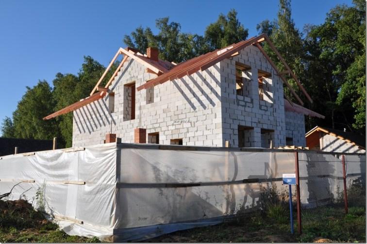 Дом из газосиликатных блоков фото строительства
