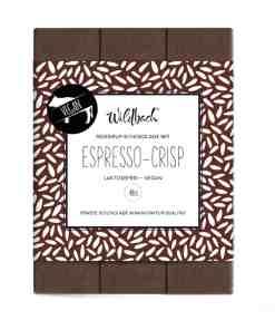 Reissirup-Schokolade mit Espresso-Crisp von Wildbach