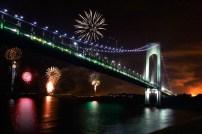 Friday night at Verrazano-Narrows Bridge Staten Island, NY