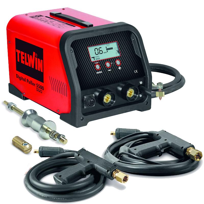 Ausbeulspotter, Punktschweißgerät, 230V, Digital Car Puller 5500 Duo mit Zubehör Kfz Karosserie Reparatur