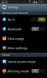 Galaxy S II Jelly Bean - Settings