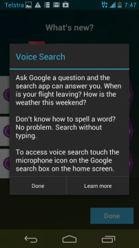 Jelly Bean Voice Search