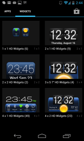 Widget Drawer