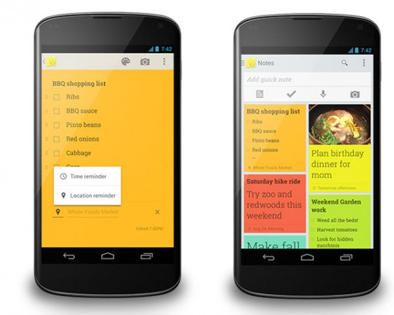 Google Keep Reminders