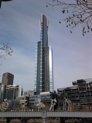 Melbourne's Eureka Tower in daylight