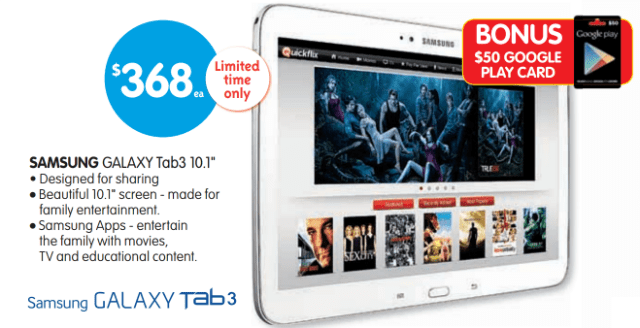 Galaxy Tab 3 10.1 - Google Play Gift Card
