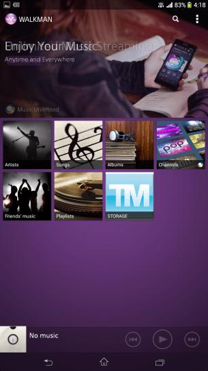 Sony Music app