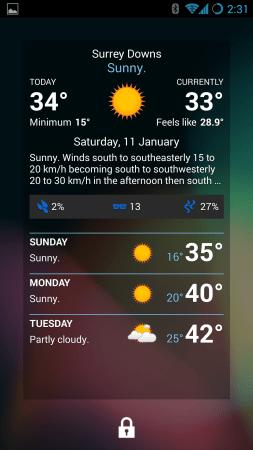 Pocket Weather - Lockscreen
